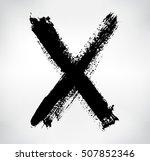 grunge hand drawn letter x... | Shutterstock .eps vector #507852346