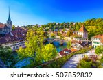 view of bern old city center... | Shutterstock . vector #507852832