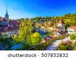view of bern old city center...   Shutterstock . vector #507852832