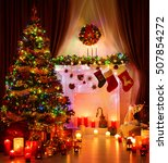 christmas room and lighting... | Shutterstock . vector #507854272