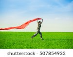 beautiful young woman jumping... | Shutterstock . vector #507854932