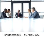 multi ethnic business people... | Shutterstock . vector #507860122