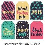 black friday vector set. hand... | Shutterstock .eps vector #507865486