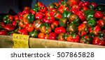 Fresh Red And Green Peppers