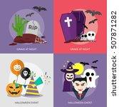 halloween conceptual design  ... | Shutterstock .eps vector #507871282