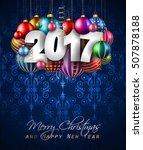 2017 happy new year background... | Shutterstock . vector #507878188