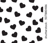 heart shape seamless pattern... | Shutterstock .eps vector #507880486