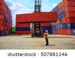 business logistics concept ... | Shutterstock . vector #507881146