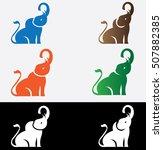 elephant logo design vector... | Shutterstock .eps vector #507882385