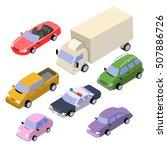 isometric cars vector eps10 | Shutterstock .eps vector #507886726