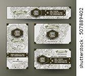 corporate identity vector...   Shutterstock .eps vector #507889402