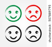 set of happy and sad smiley... | Shutterstock .eps vector #507889795