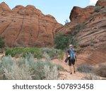 slot canyon  grand staircase... | Shutterstock . vector #507893458