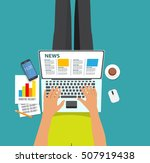 online news vector illustration.... | Shutterstock .eps vector #507919438