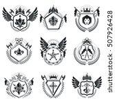heraldic coat of arms...   Shutterstock .eps vector #507926428