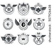 heraldic signs vector vintage... | Shutterstock .eps vector #507926638