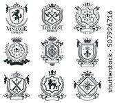 vintage heraldry design...