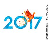 new year 2017 concept   fire... | Shutterstock .eps vector #507928072