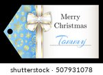 luxury sky blue christmas name... | Shutterstock .eps vector #507931078