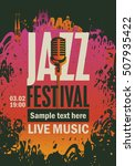 banner music poster with jazz... | Shutterstock .eps vector #507935422