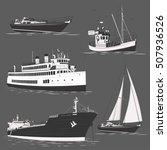 cruise liner motor ship yacht... | Shutterstock .eps vector #507936526