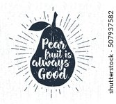 hand drawn label with textured...   Shutterstock .eps vector #507937582