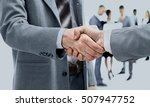 business handshake and business ... | Shutterstock . vector #507947752
