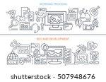 flat vector banners. working... | Shutterstock .eps vector #507948676