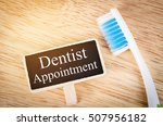 dentist appointment tag on...   Shutterstock . vector #507956182