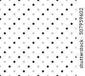 seamless monochrome polka dot... | Shutterstock .eps vector #507959602