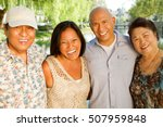 asian parents and their adult...   Shutterstock . vector #507959848