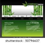 bamboo website design template  ...   Shutterstock .eps vector #50796637