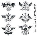 vintage decorative emblems... | Shutterstock .eps vector #507967795