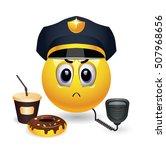 strict smiley police officer on ... | Shutterstock .eps vector #507968656