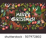 vector greeting card of bright... | Shutterstock .eps vector #507972802