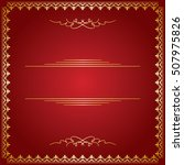 red background with golden... | Shutterstock .eps vector #507975826