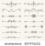 vector set of decorative... | Shutterstock .eps vector #507976222