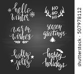 set of christmas phrases on the ... | Shutterstock .eps vector #507978112