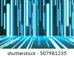 abstract digital science... | Shutterstock . vector #507981235