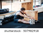 fitness man doing stretching in ... | Shutterstock . vector #507982918