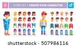 male and female characters... | Shutterstock .eps vector #507986116