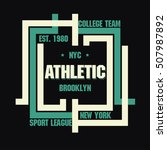 new york brooklyn sport wear... | Shutterstock .eps vector #507987892