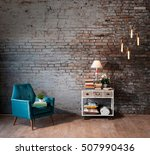 modern brick wall reading... | Shutterstock . vector #507990436