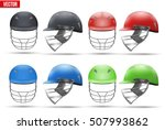 set of tradition cricket... | Shutterstock .eps vector #507993862