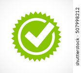 green tick mark icon vector...