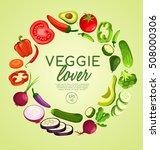 veggie lover elements   vector... | Shutterstock .eps vector #508000306