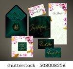tony wedding invitation suite... | Shutterstock .eps vector #508008256