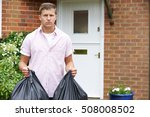 portrait of man taking out...   Shutterstock . vector #508008502