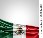 mexico flag of silk with... | Shutterstock . vector #508016902