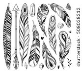 vector set of boho elements.... | Shutterstock .eps vector #508028212